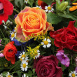 Stock Photo: Flower arrangement in bright colors
