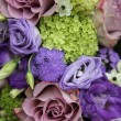 Bridal arrangement in different shades of purple — Stock Photo