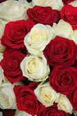 Kırmızı ve beyaz bir düğün Merkez — Stok fotoğraf