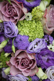 Bridal arrangement in different shades of purple — Stok fotoğraf