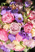 Pink and purple wedding bouquet — Stock Photo
