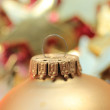 Christmas ornament in extreme close up — Stock Photo