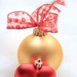 Red and golden christmas decorations - Stock Photo