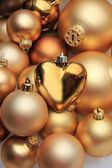 Christmas ornaments: 50 shades of gold — Stockfoto
