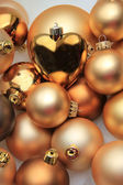 Christmas ornaments: 50 shades of gold — Stock Photo