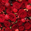 Ranunculus, berries and roses in group — Stok Fotoğraf #25594171