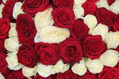 Hochzeit herzstück in rot und weiß — Stockfoto