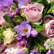 Stock Photo: Bridal bouquet in various shades of purple