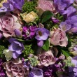 Bridal bouquet in various shades of purple — Stock Photo