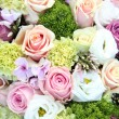 Purple, pink and white wedding centerpiece — Stock Photo