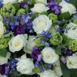 Stock Photo: Wedding arrangement in white and blue