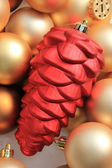 Red cone shaped ornament — Stock Photo