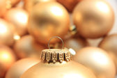 Golden Christmas ornament, soft focus — Stock Photo