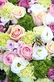 Purple, pink and white wedding centerpiece — Stock Photo