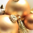 Golden Christmas decorations — Stock Photo #26185381