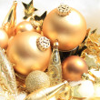 Golden Christmas decorations — Stock Photo #26185413