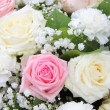Bridal flower arrangement in pink and white — Stock Photo #26187339