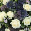Blue White Flower arrangement for a wedding — Stok fotoğraf