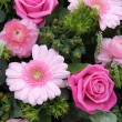 Wedding flowers in various shades of pink — Stok fotoğraf