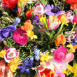 Stock Photo: Bright colored spring flower bouquet