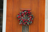 Wreath with berries — Stock Photo