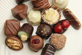 Decorated chocolates — Stock Photo