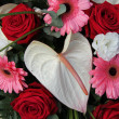 Anthurium, roses and gerberas in a bridal arrangement — Lizenzfreies Foto