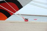 Деталь состыкованного круизное судно — Стоковое фото