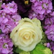 Purple and white bridal arrangement — ストック写真