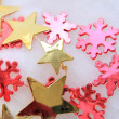 Stock Photo: Christmas decorations in red and gold