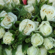 Group of white roses, wedding decorations — Stockfoto