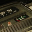 Foto Stock: Detail of vintage car dashboard