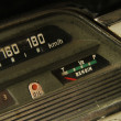 图库照片: Detail of vintage car dashboard