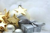 Decorazioni e regali di Natale — Foto Stock