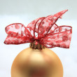 Stock Photo: Red and golden christmas decoration