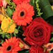 Red, yellow and orange wedding decorations — Lizenzfreies Foto