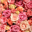 Roses in different shades of pink, wedding arrangement — 图库照片