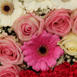 Wedding arrangement in pink and white — Stok fotoğraf