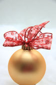 Red and golden christmas decoration — Stock Photo