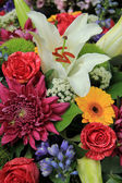 Multicolored bridal bouquet — Stockfoto