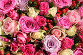 Wedding flowers in various shades of pink — Stockfoto