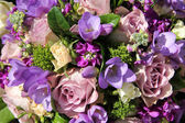 Bridal bouquet in various shades of purple — Стоковое фото