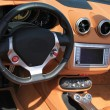 Stock Photo: Brown leather car interior