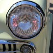 Detail of a vintage car front — Stok fotoğraf