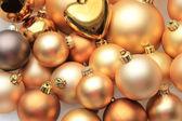 金色圣诞装饰品 — 图库照片