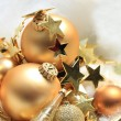 Golden Christmas decorations — Stock Photo #27864039
