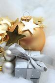 Julklapp och dekorationer — Stockfoto