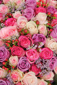 Bridal arrangement in purple and pink — Stock Photo