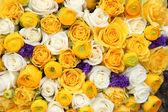 желтые и белые свадебный цветы — Стоковое фото