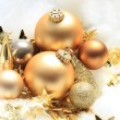 Golden Christmas decorations — Stock Photo #29187975